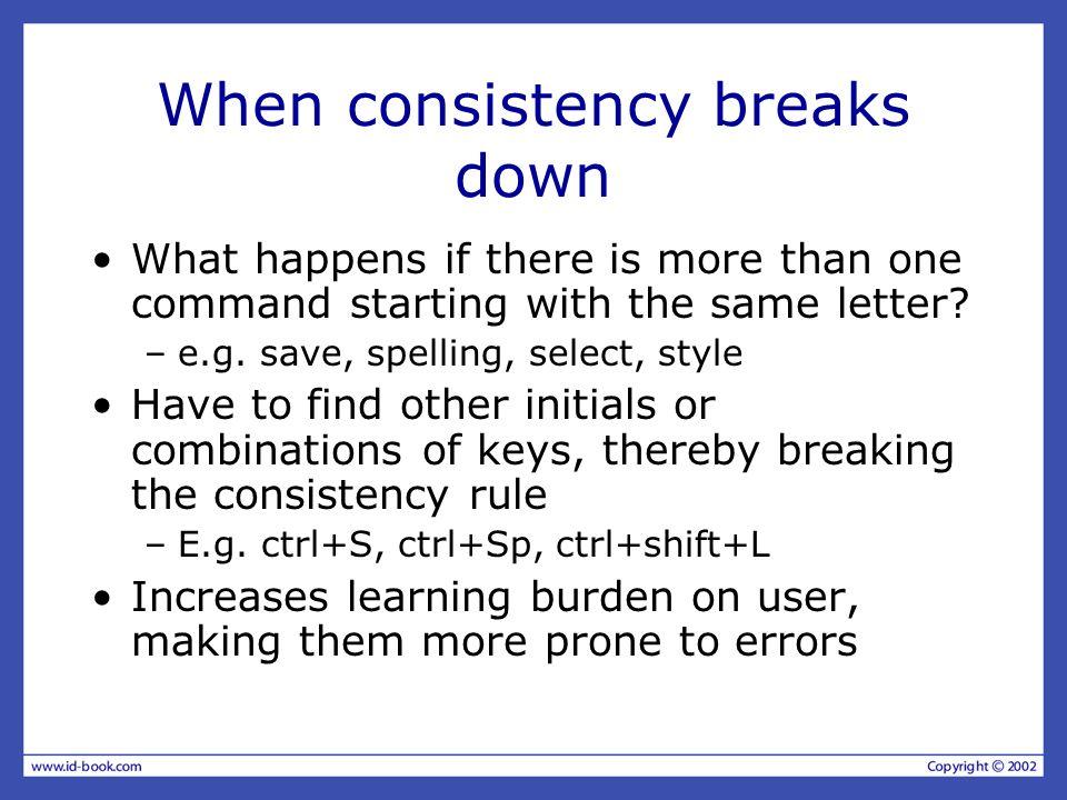 When consistency breaks down