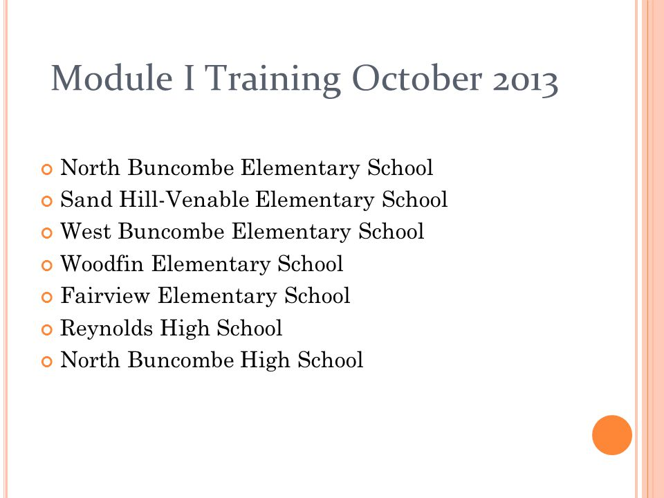 Module I Training October 2013