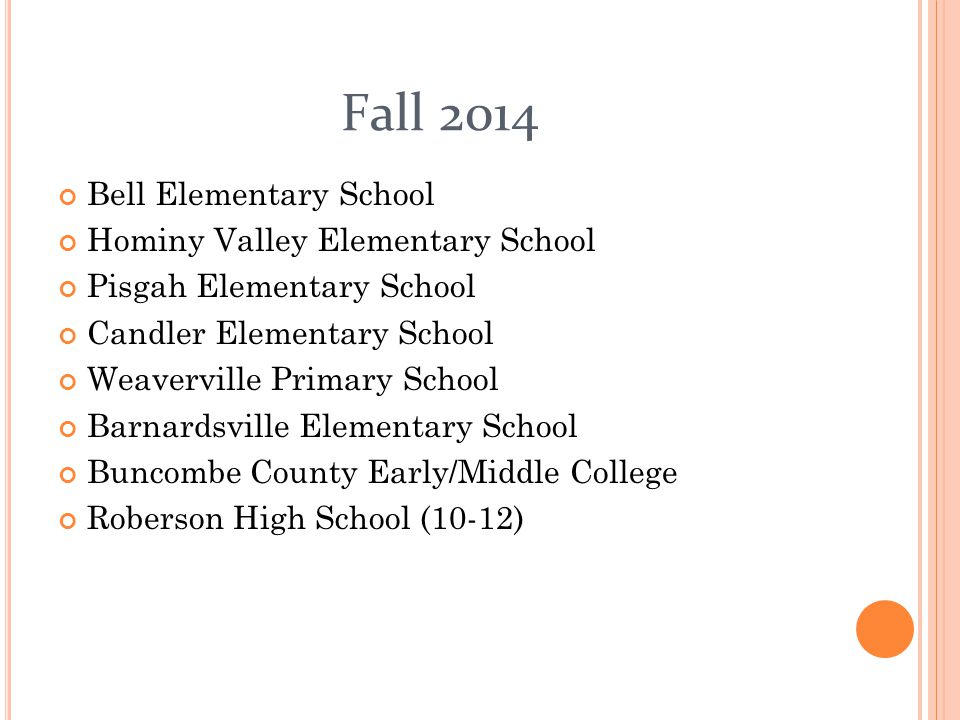 Fall 2014 Bell Elementary School Hominy Valley Elementary School