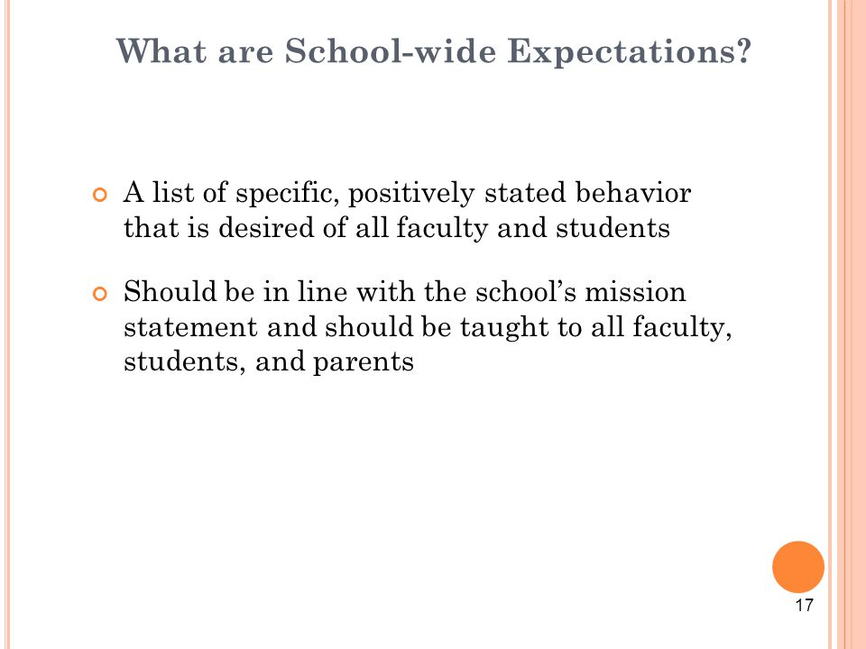What are School-wide Expectations