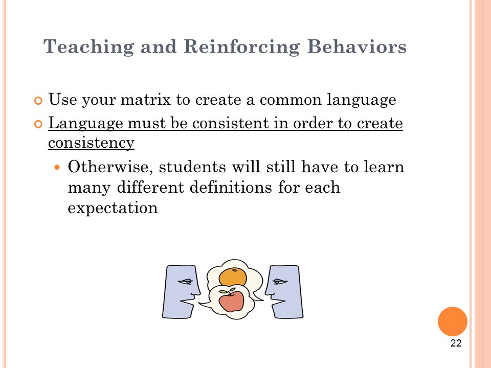 Teaching and Reinforcing Behaviors