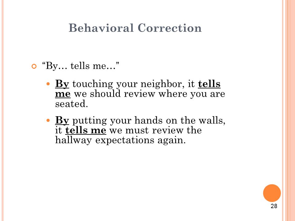 Behavioral Correction