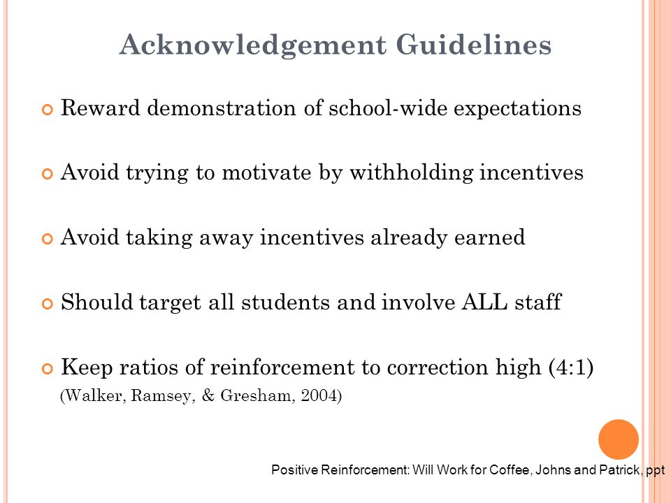 Acknowledgement Guidelines