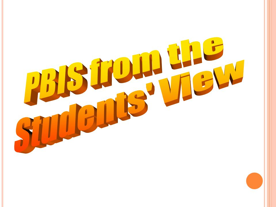 PBIS from the Students View