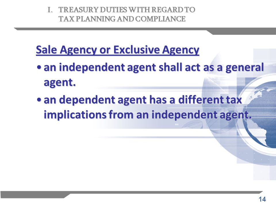 Sale Agency or Exclusive Agency