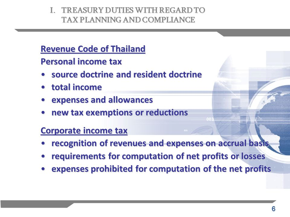 Revenue Code of Thailand Personal income tax
