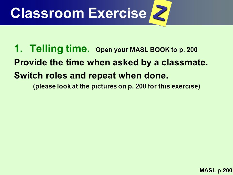 (please look at the pictures on p. 200 for this exercise)