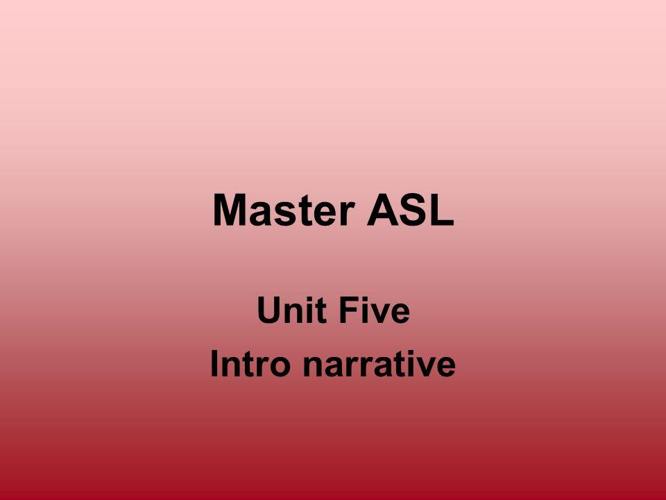 Unit Five Intro narrative