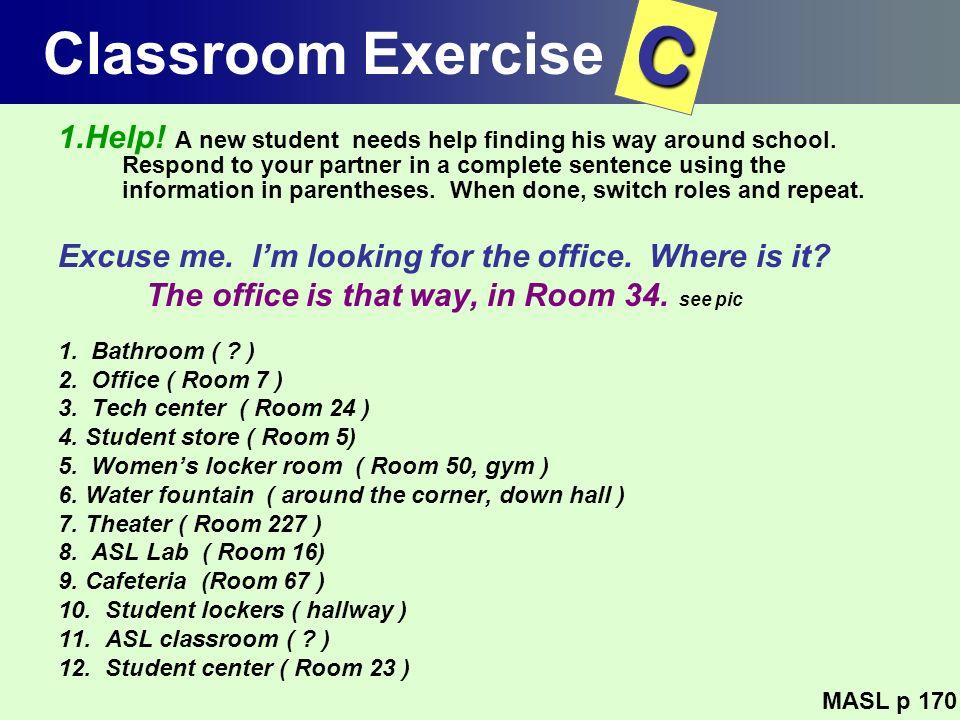 Classroom Exercise C.