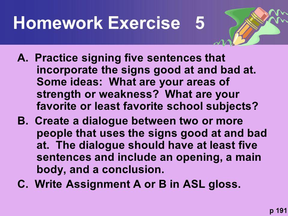 Homework Exercise 5