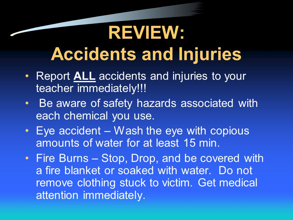 REVIEW: Accidents and Injuries