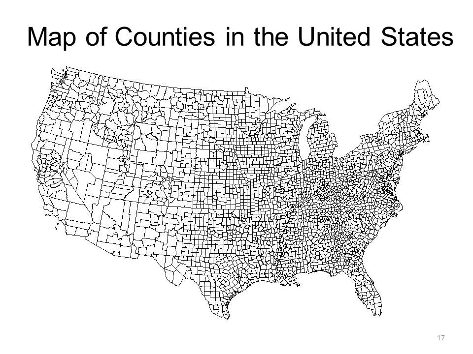 Map of Counties in the United States