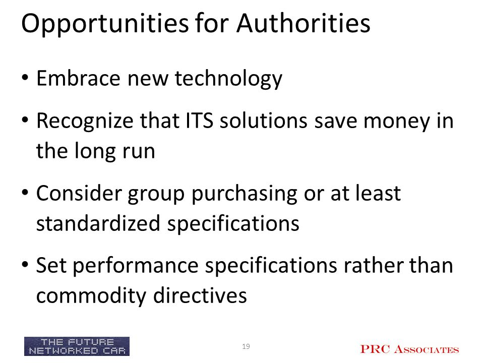 Opportunities for Authorities