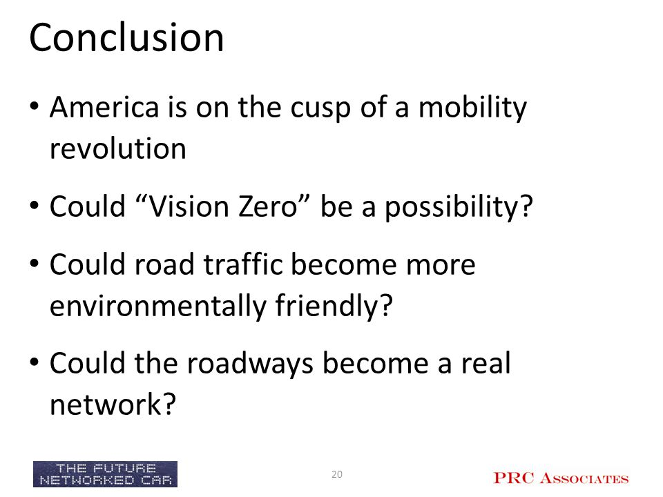 Conclusion America is on the cusp of a mobility revolution