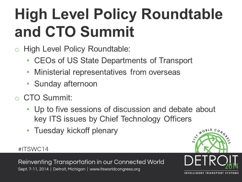 High Level Policy Roundtable and CTO Summit