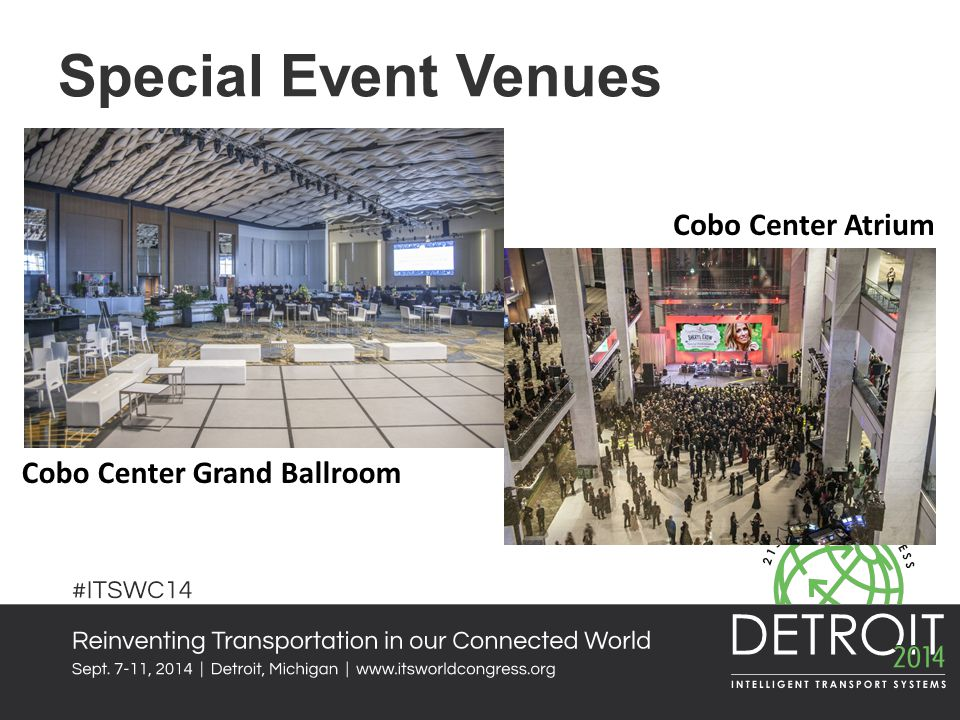 Special Event Venues Cobo Center Atrium Cobo Center Grand Ballroom