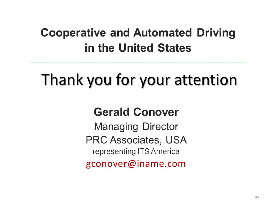 Cooperative and Automated Driving