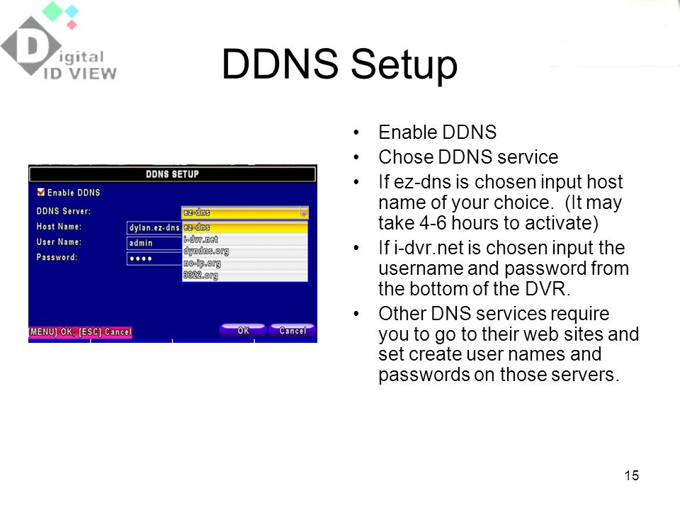 how to set ddns on lorex dvr