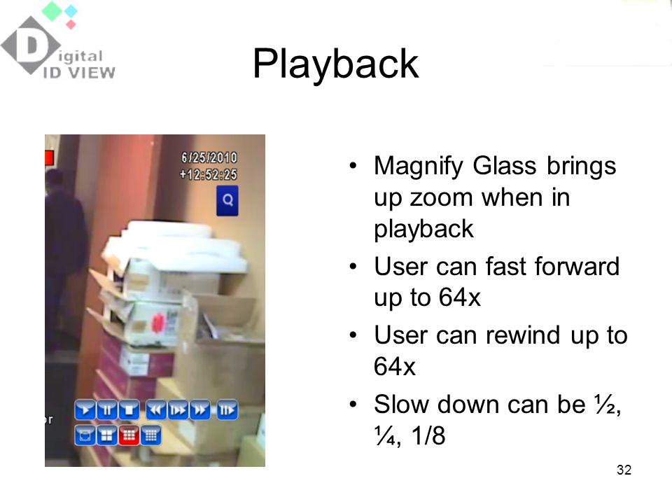Playback Magnify Glass brings up zoom when in playback