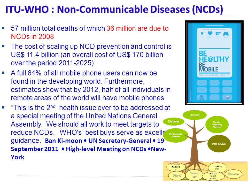 ITU-WHO : Non-Communicable Diseases (NCDs)