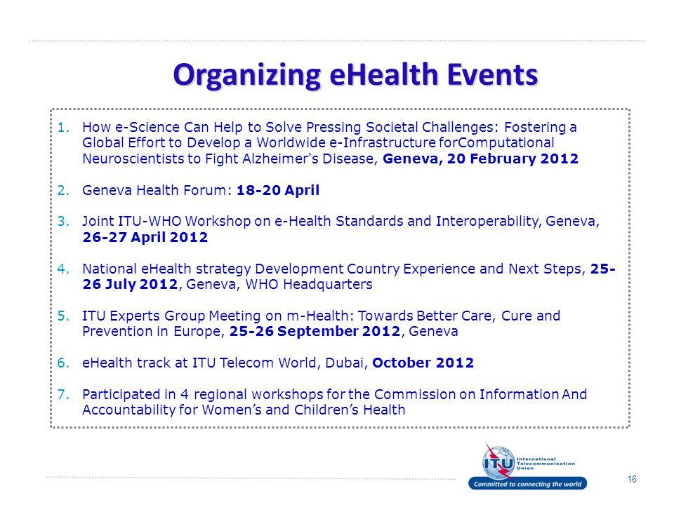 Organizing eHealth Events