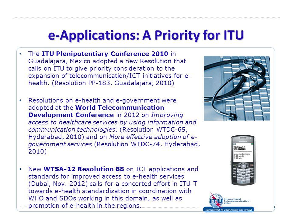 e-Applications: A Priority for ITU