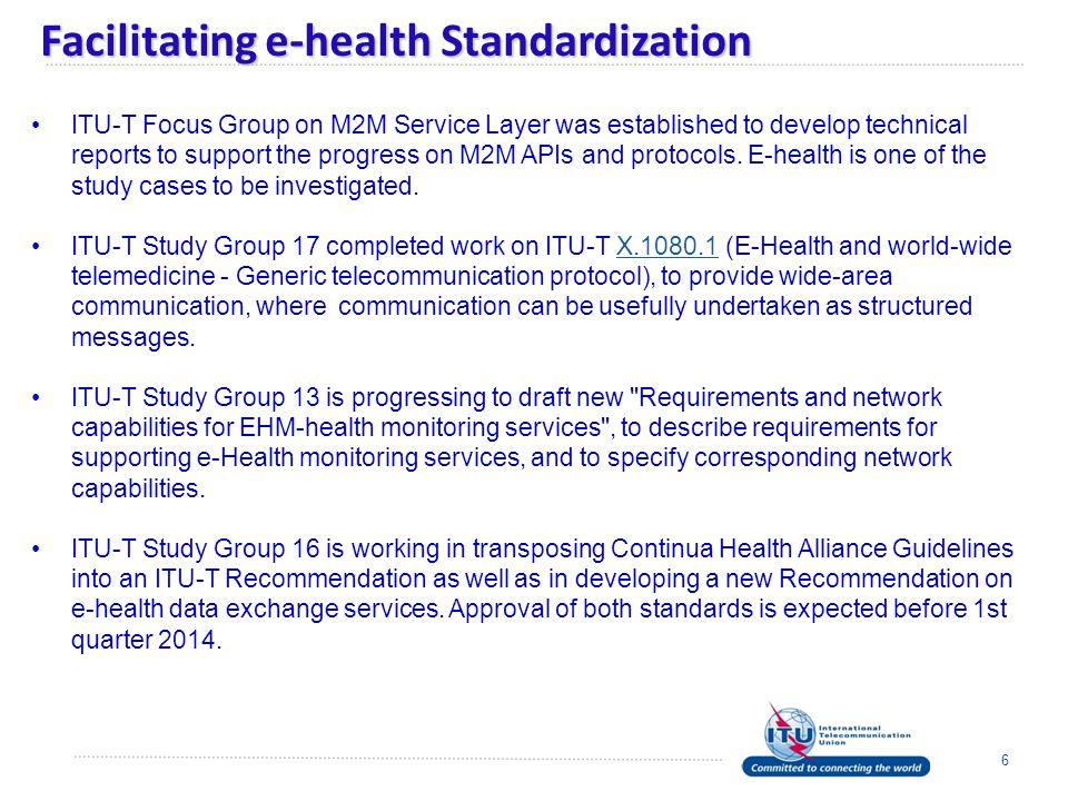 Facilitating e-health Standardization