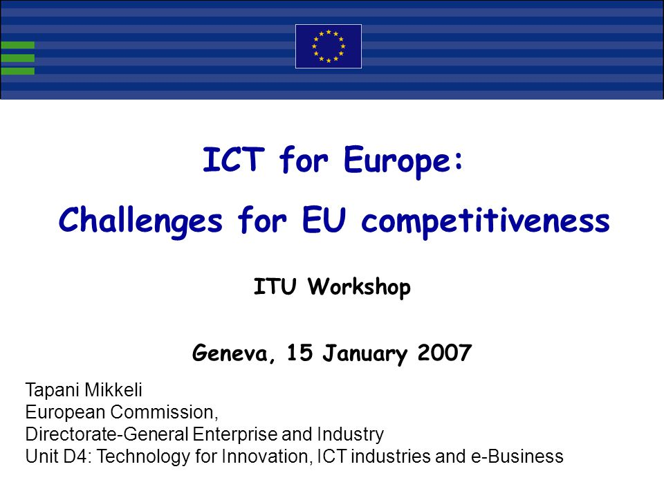 Challenges for EU competitiveness