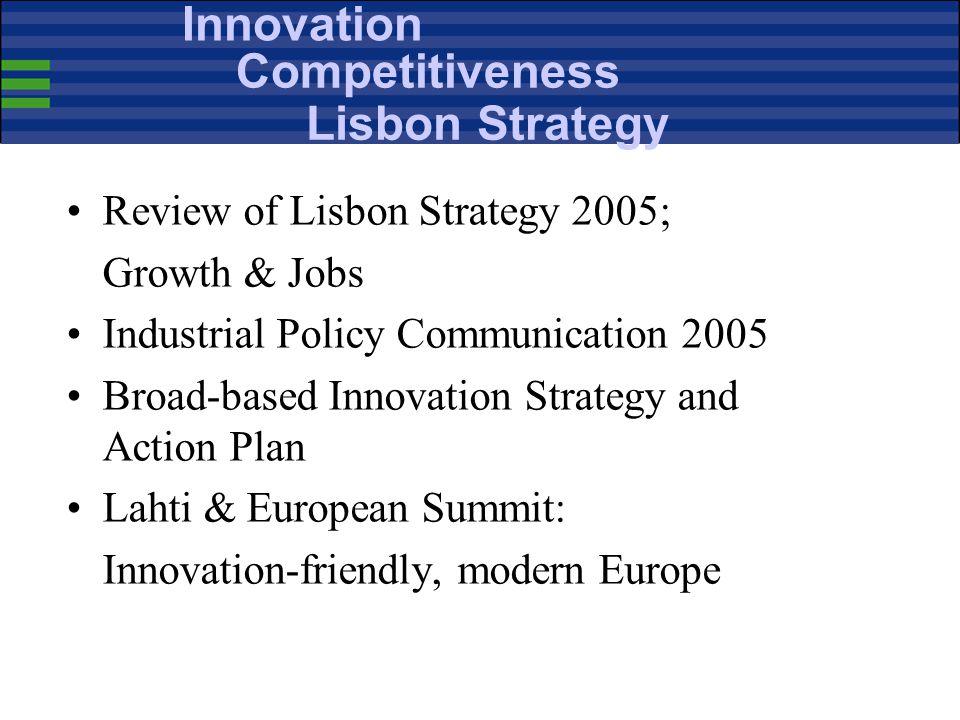 Innovation Competitiveness Lisbon Strategy