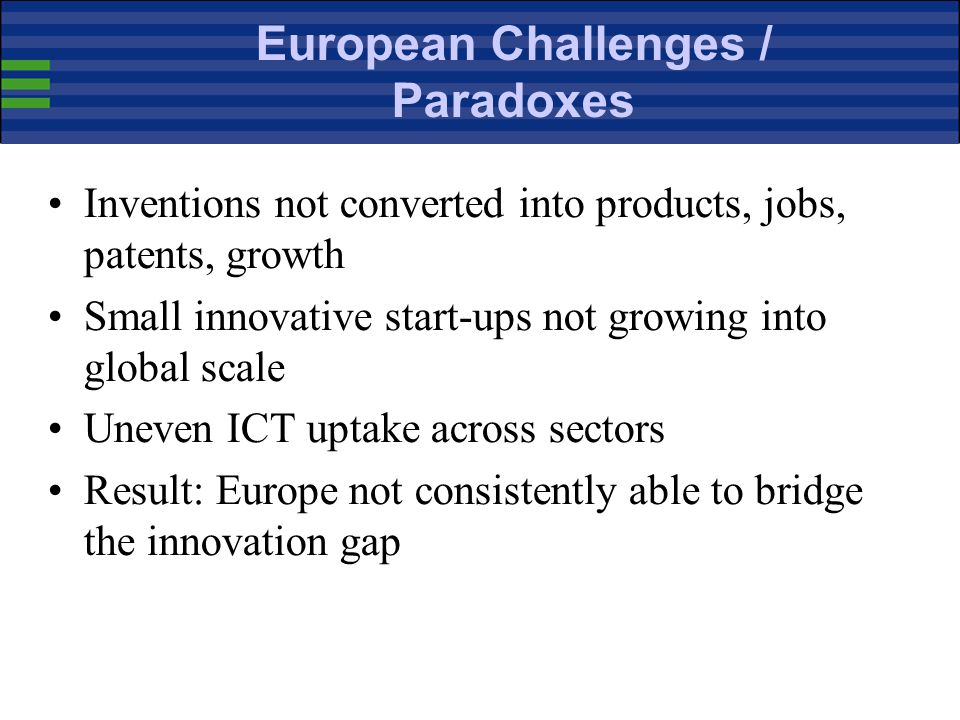 European Challenges / Paradoxes
