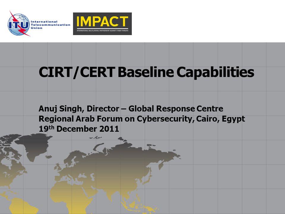 CIRT/CERT Baseline Capabilities