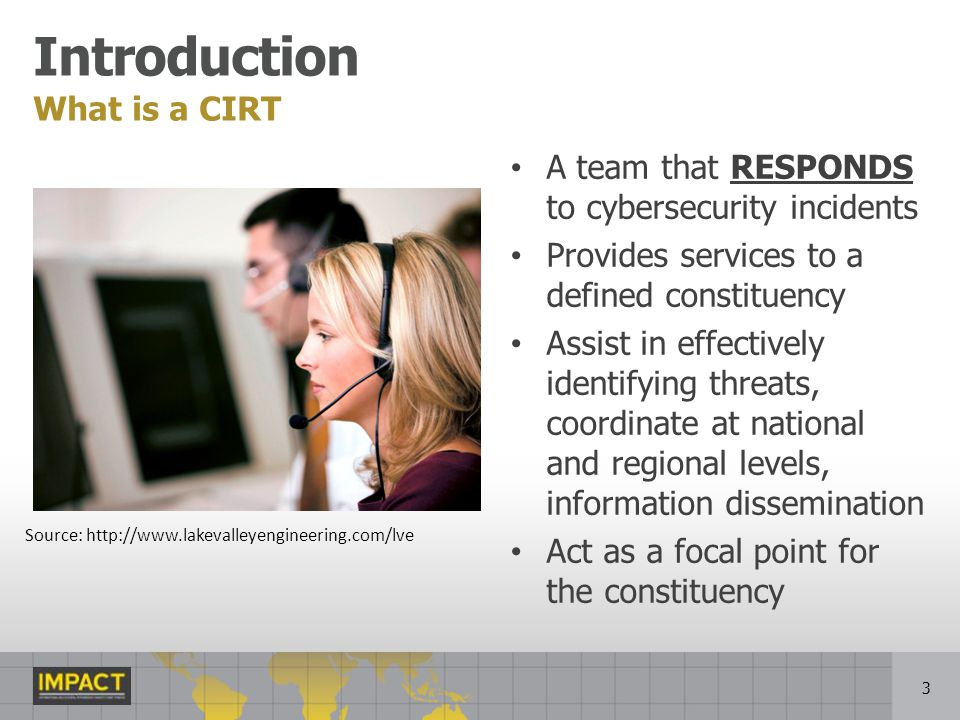 Introduction What is a CIRT