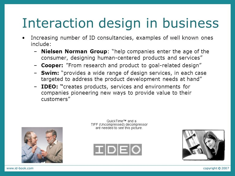Interaction design in business