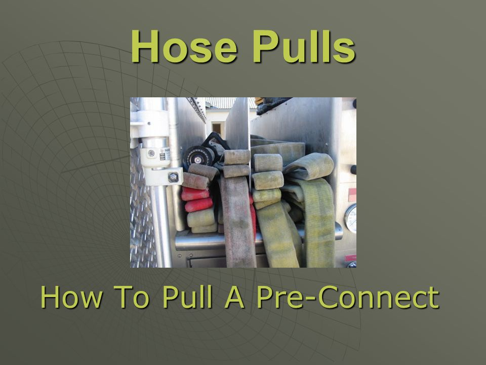 How To Pull A Pre-Connect