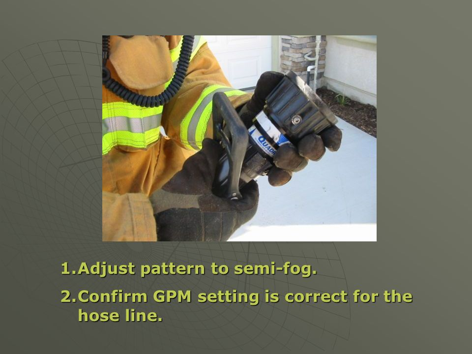 Adjust pattern to semi-fog.