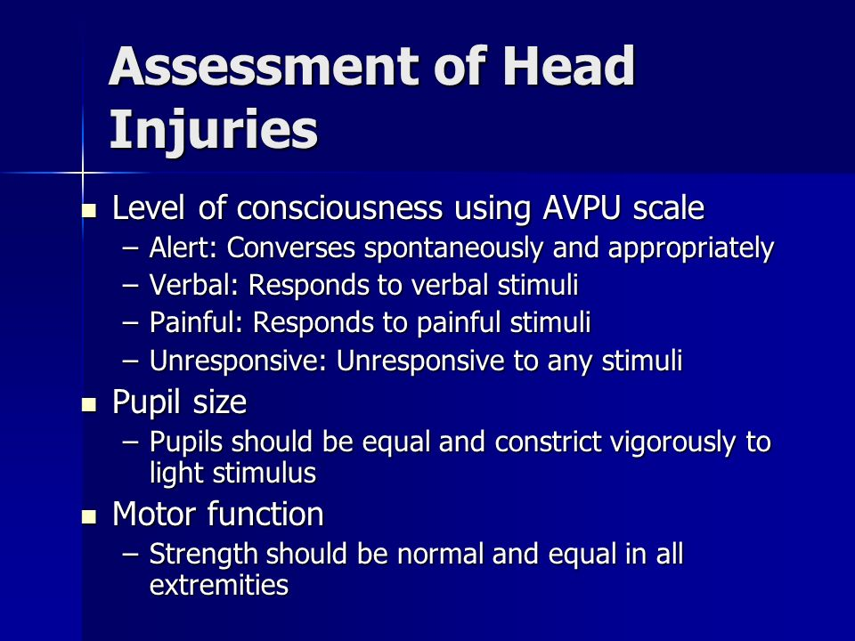 Assessment of Head Injuries