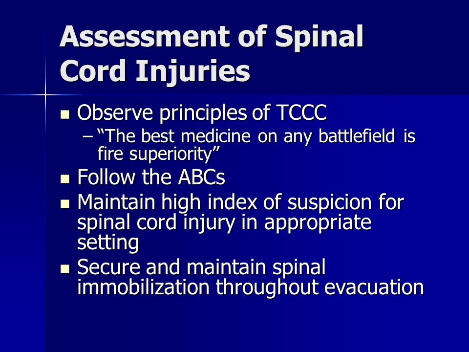 Assessment of Spinal Cord Injuries