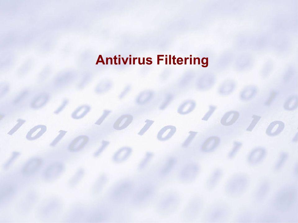 Antivirus Filtering 4.16. Antivirus Filtering