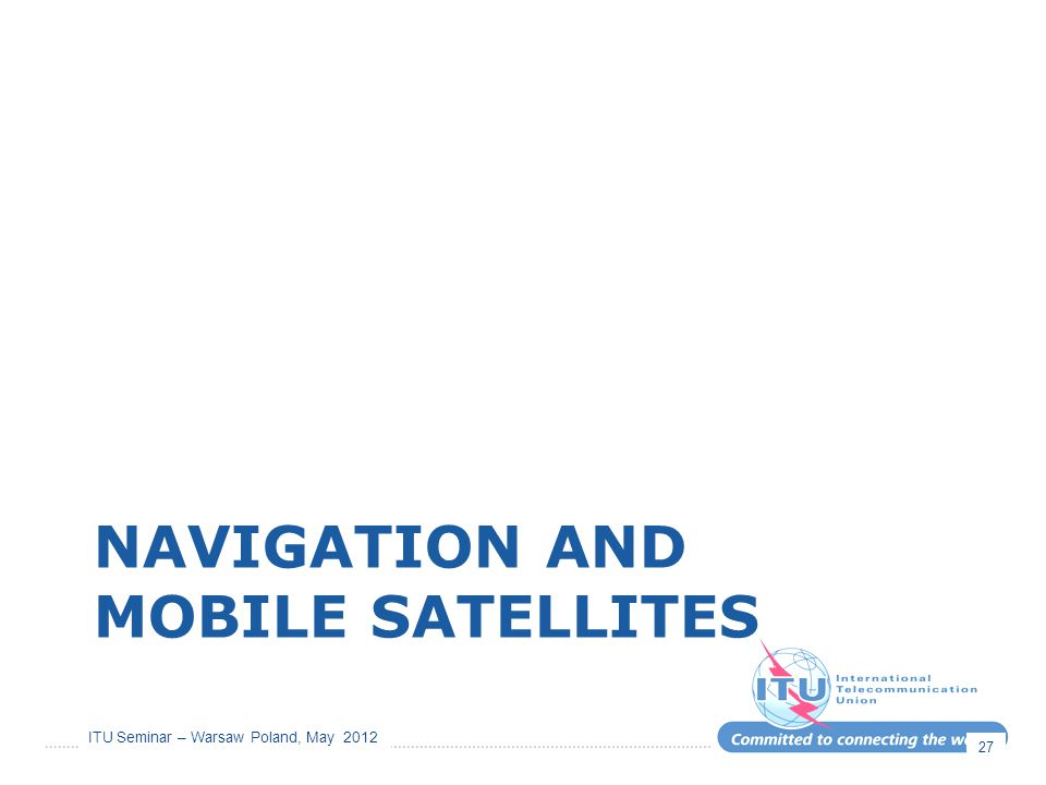 Navigation and mobile satellites