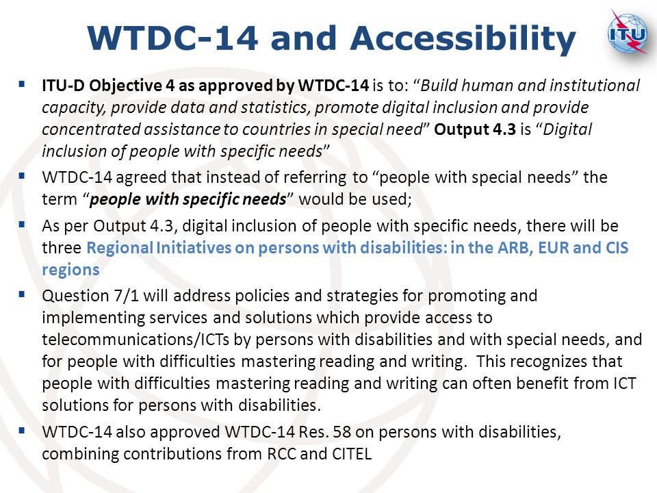 WTDC-14 and Accessibility