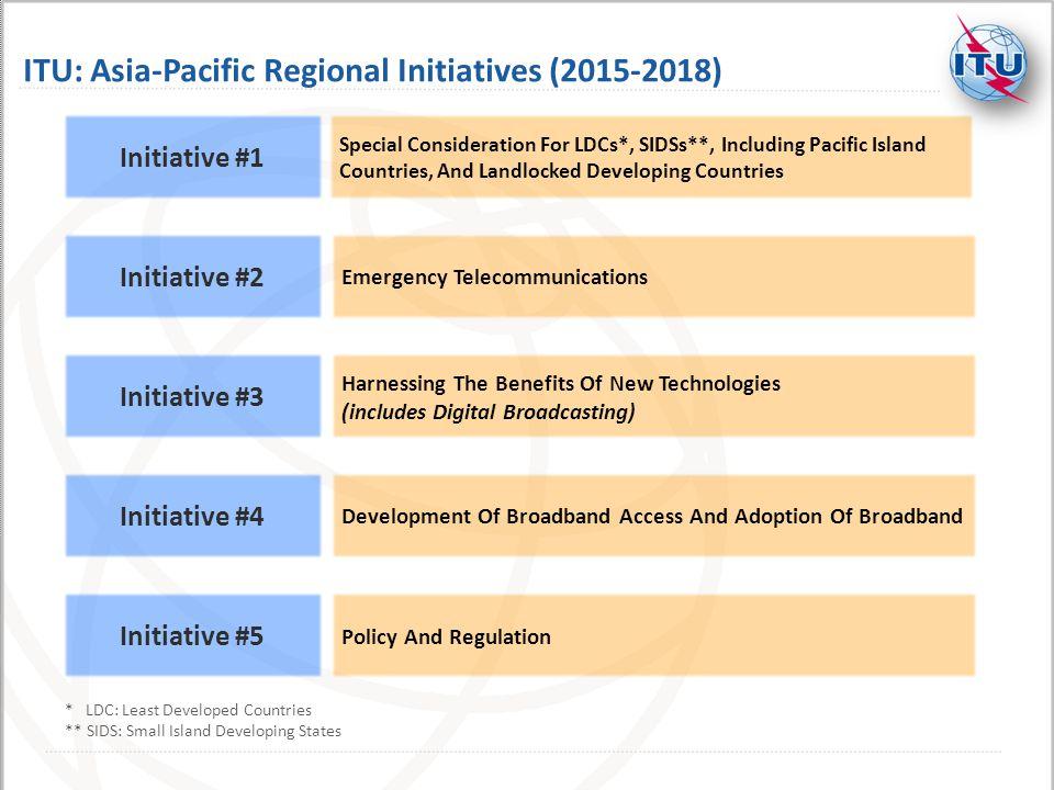 ITU: Asia-Pacific Regional Initiatives (2015-2018)
