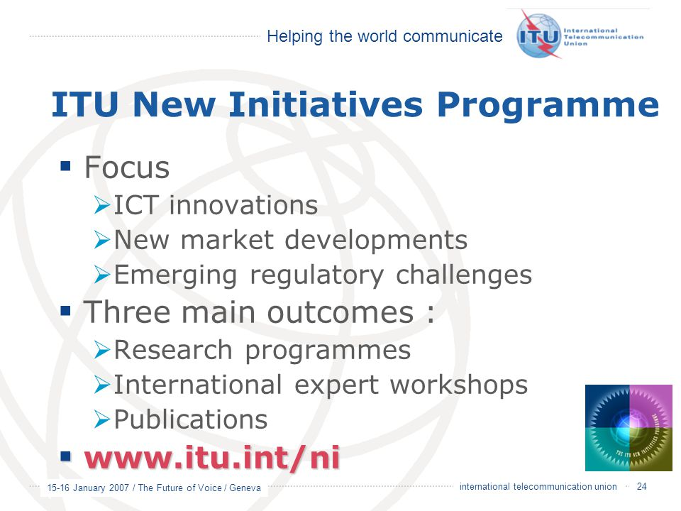ITU New Initiatives Programme