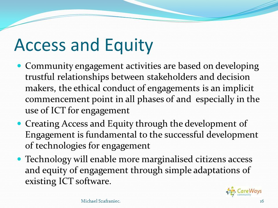 Access and Equity