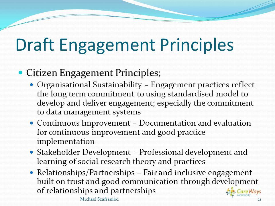 Draft Engagement Principles
