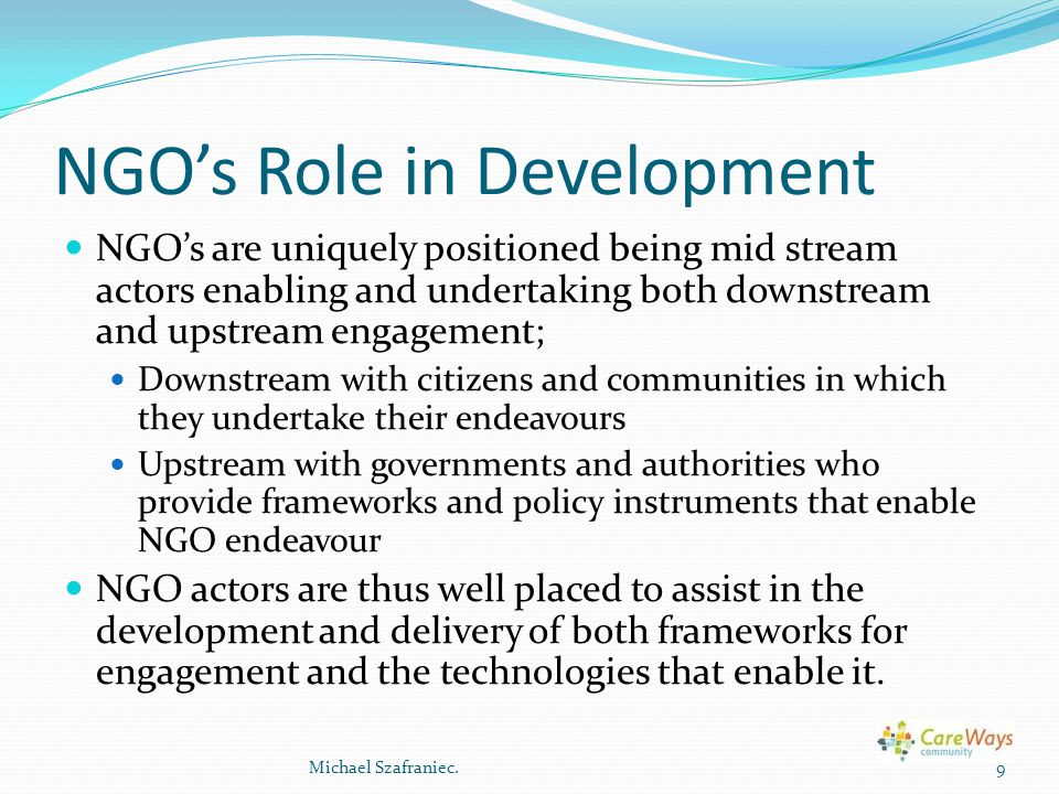 NGO's Role in Development