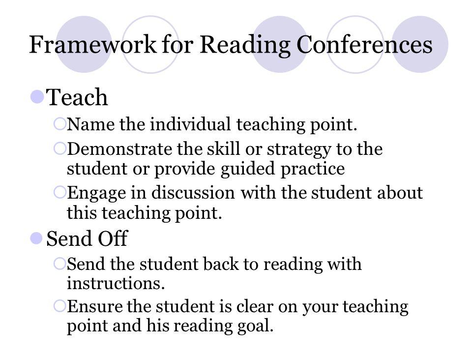 Framework for Reading Conferences