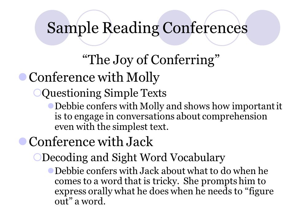 Sample Reading Conferences