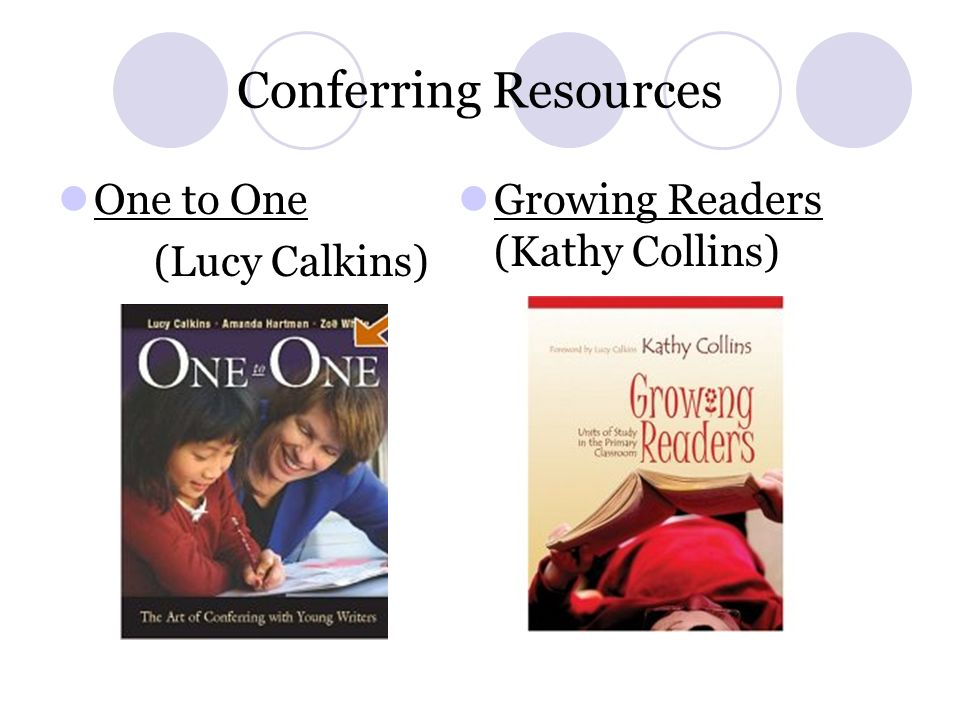 Conferring Resources One to One (Lucy Calkins)