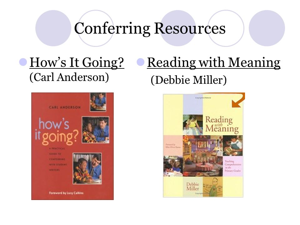 Conferring Resources How's It Going (Carl Anderson)