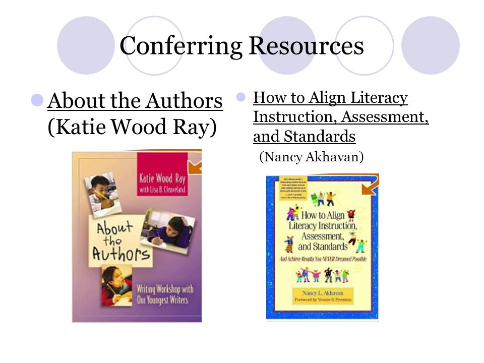 Conferring Resources About the Authors (Katie Wood Ray)